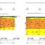 przekrój geologiczno - inżynierski (geolog Piła)