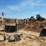 płyta dynamiczna na budowie - geolog Piła
